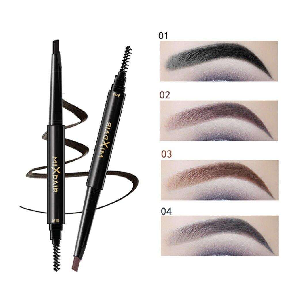 MIXDAIR automatic eyebrow pencil with eyebrow brush waterproof Triangular head dark color black brown eyebrow drawing pen MD008 2