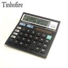 Tinhofire Черный 12 цифр Office калькулятор компьютера ключи компьютер Солнечный Калькулятор CT-512