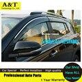 A & T do Windows viseira car styling Chrome Vento Deflector Viso Chuva/Sol Ventilação guarda SERVE Para 2013 2014 Toyota RAV 4 Carro Chuva escudo um