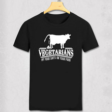Vegetarians T Shirt Funny My Food Shits On Your Food Funny Vegetarian Vegan Unisex T-shirt Fun hipster joke Meat eaters tshirt
