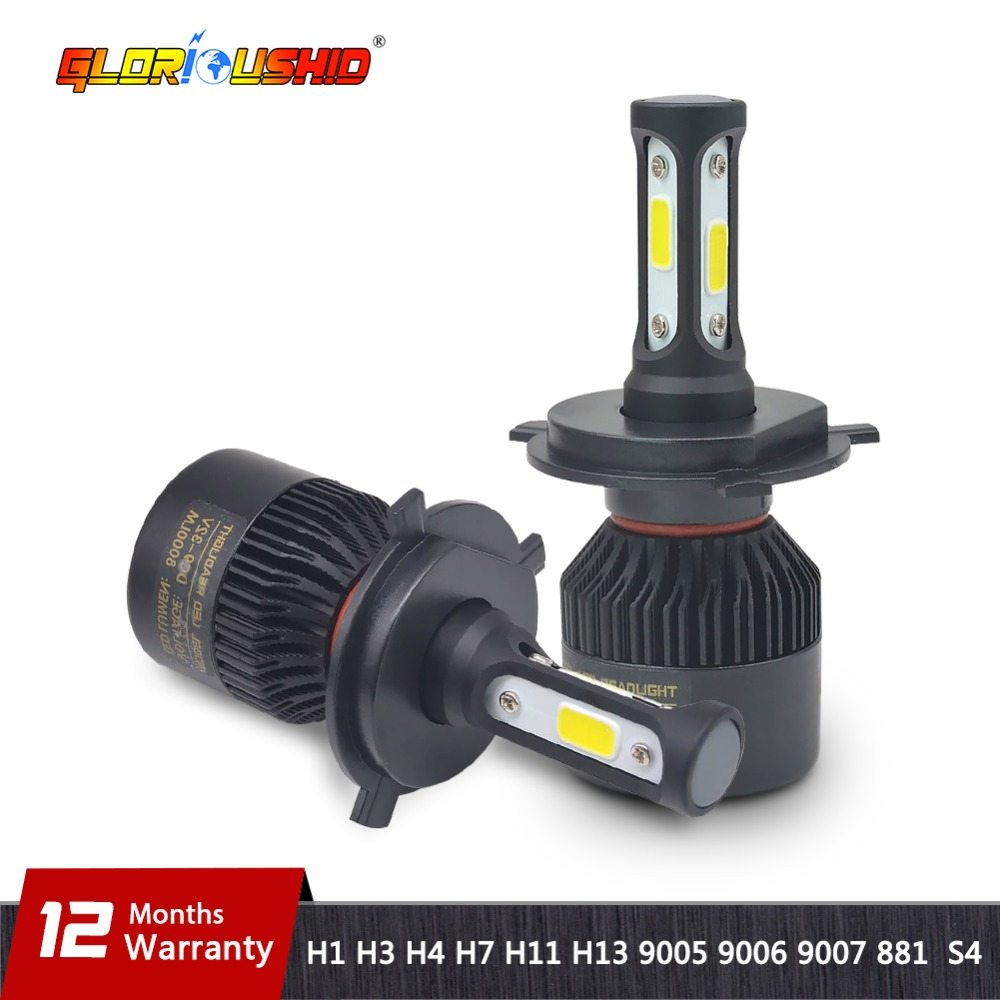H7 LED H4 H11 H8 H9 H1 H3 H13 9005 HB3 9006 HB4 9007 Car LED Headlight 72W 8000LM Auto light Fog Lamp Bulb 6500k Pure White