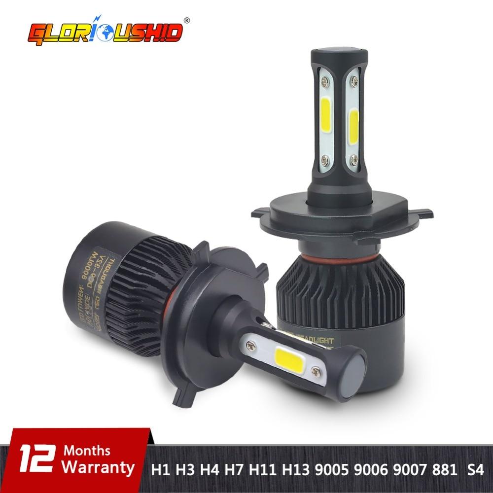 H7 LED H4 H11 H8 H9 H1 H3 H13 9005 HB3 9006 HB4 9007 Voiture LED Phare 72 W 8000LM Auto lumière Brouillard Lampe Ampoule 6500 k Pur blanc