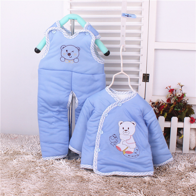 2016 Winter Infant Clothes Children Clothing Set Cartoon Soft Cotton Warm Thick Baby Boys Girls Clothes Suit Newborn Outfits hhtu 2017 new infant baby girl boys sleep clothing set children cute cartoon pajamas suit newborn kids soft cotton underwear