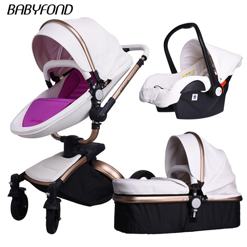 Free Ship! Free gifts! babyfond Aulon Luxury High landscape Baby Stroller 3 in 1 Fashion baby EU standard independent newborn все цены