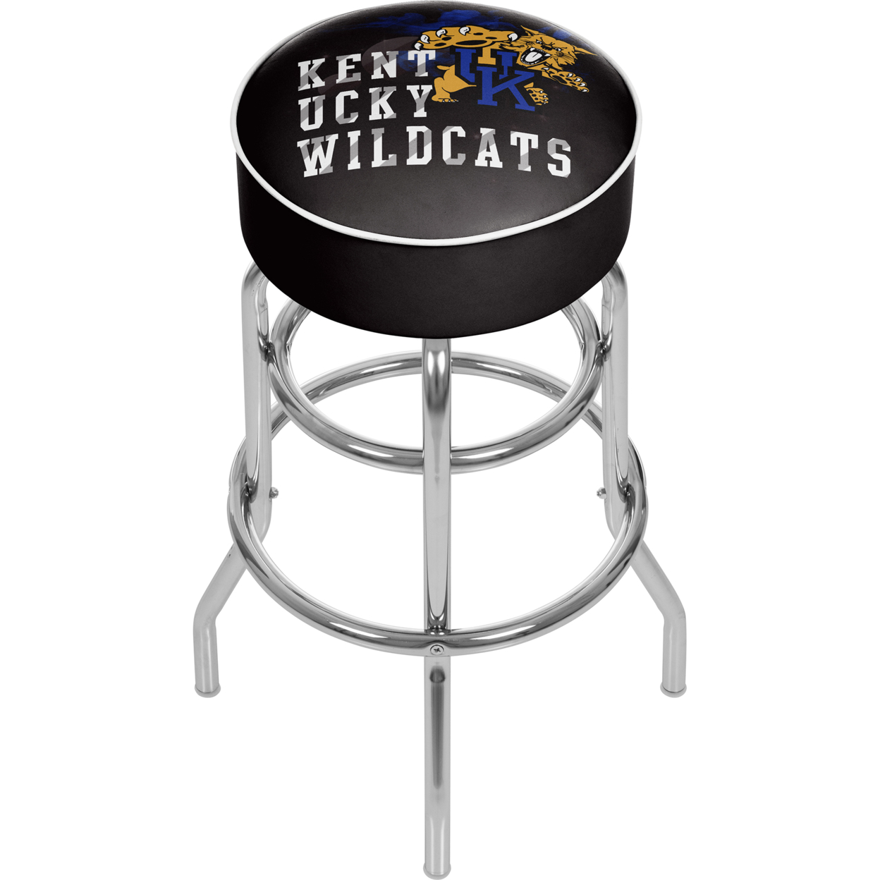 University of Kentucky Wildcats Smoke Padded Swivel Bar Stool 30 Inches High
