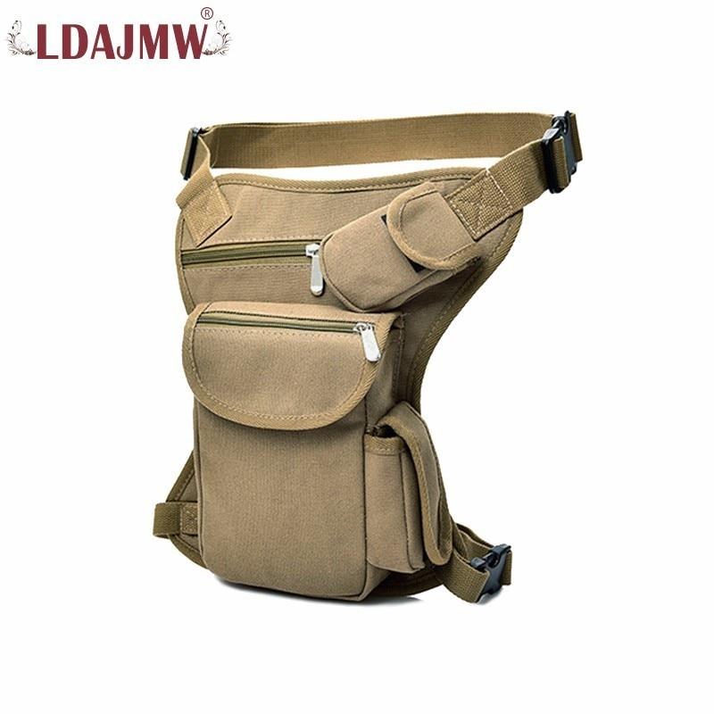 LDAJMW Canvas Waist And Leg Kit Tactics Multi - Functional Leg Bag Man Leisure Fanny Pack Pockets Purse