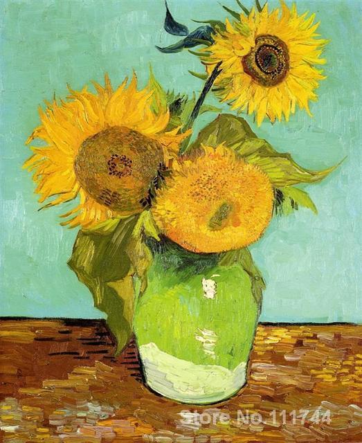US $84.53 21% di SCONTO|Famosa arte per la camera da letto Girasoli di  Vincent Van Gogh dipinti dipinto A Mano di Alta qualità in Famosa arte per  la ...