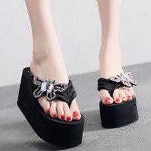 Female Slippers Summer Fashion Wear Seaside Slippery Sandals Bow Flip Flops Cool Household Wear-resistant
