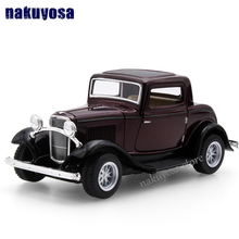 high simulation Old models 1932 Ford classic car alloy pull back model 1 34 car model