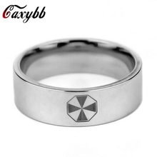 Caxybb Drop Shipping 1 UNIDS Film Resident Evil Umbrella Logo Stainless Steel Ring men Ring Jewelry Wholesale Jewelry(China)