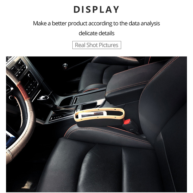 AUTOYOUTH Car Seat Crevice Pockets 3 Color PU Leather Leak-Proof Storage Box Car Organizer Universal Car Seat Side Gap Pocket