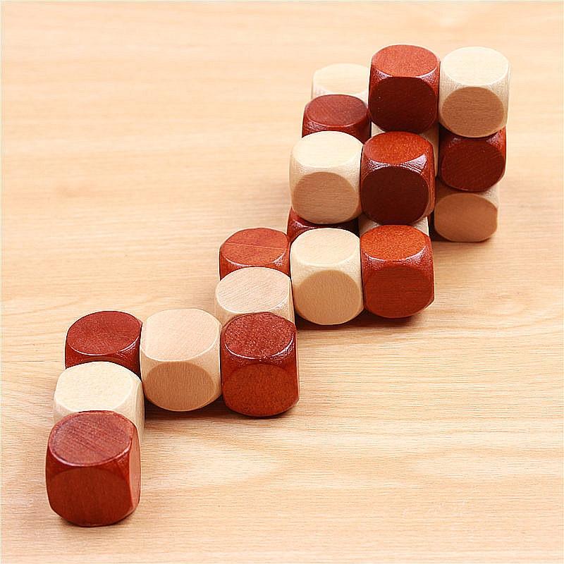 3D trä pussel Leksaker Magic Cube Educational Jigsaw Wood Fancy - Spel och pussel - Foto 5