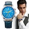 Reloj Militar Army Men Relojes Deportivos Para Hombre Relojes Horas Top Marca de Lujo de Cuero de LA PU Fecha de Negocios Relogio masculino