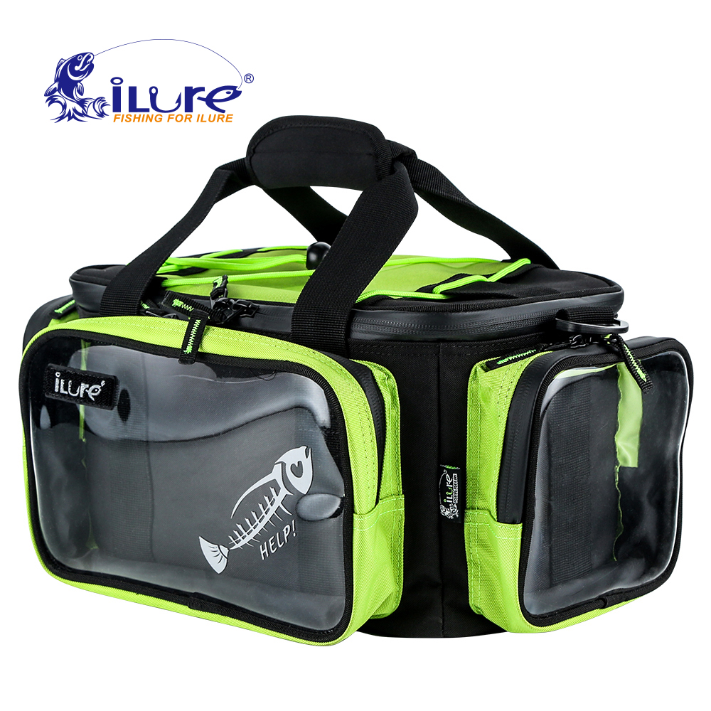 iLure Multifunction Fishing Tackle bag Outdoor Sports Shoulder waterproof Bag Lures Box Gear