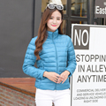 Winter jacket women 2016 high quality women's pure color coat collar winter down jacket down coat
