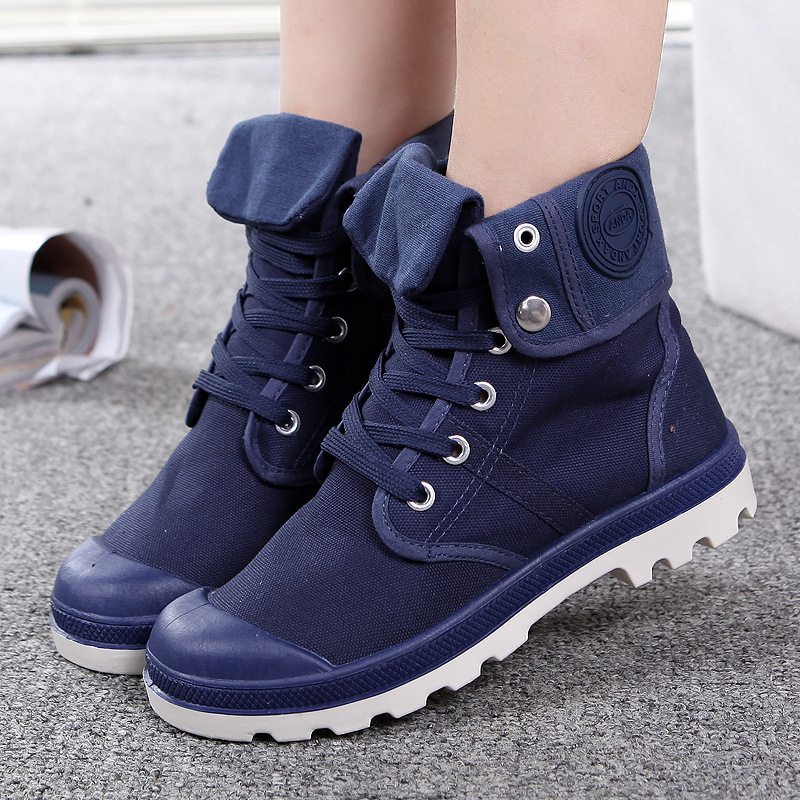 Shoes Basic Boots Aleafalling Classcial Outdoor Men Shoes Canvas Sneakers Male High Mature Boots Street Fashion Trend Ankle Motorcycle Boots Mbt30
