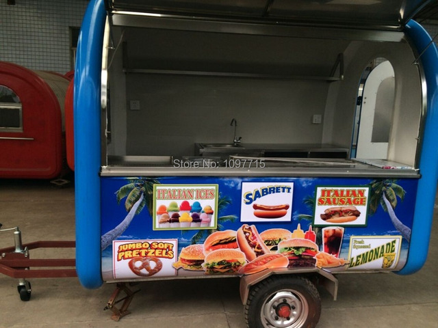 Hot dog carts, mobile crepe concession trailer,hamburger