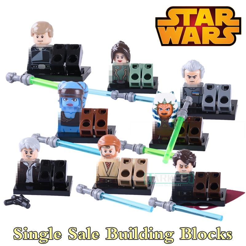 Star Wars Diy figures Luke Skywalker Han Solo Anakin Jedi Knight Aayla Secura Obi-Wan Bricks Building Blocks Kids Toys PG8034 building blocks chrom darth vader anakin skywalker diy figures superhero star wars bricks kids diy educational toys hobbies