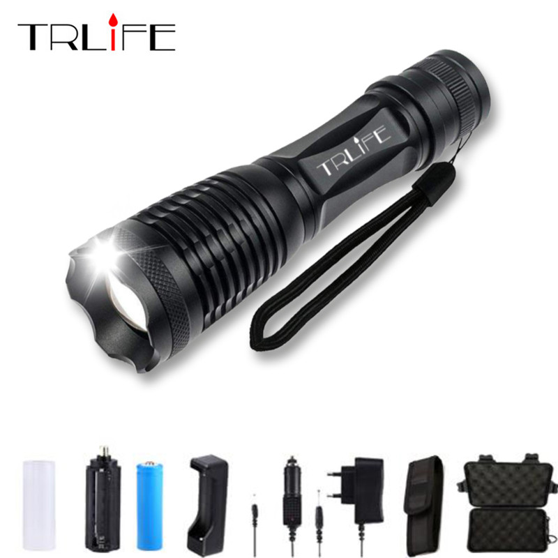 LED T6/L2/V6 Flashlight 8000Lumens Torch Zoom Tactical Flashlight Camping Flash Light 5Mode Lamp For 3xAAA or 1x18650 6000 lumens cree xm t6 led flashlight waterproof zoomable torch camping flash light outdoor lighting lamp for 3xaaa or 1x18650