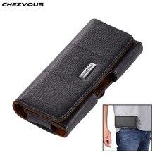 Chezvousベルト電話ケースiphone 7 8 6 5 4s 4 牛革ベルトクリップホルパックiphone 7 8 6 プラス小さな携帯電話バッグ