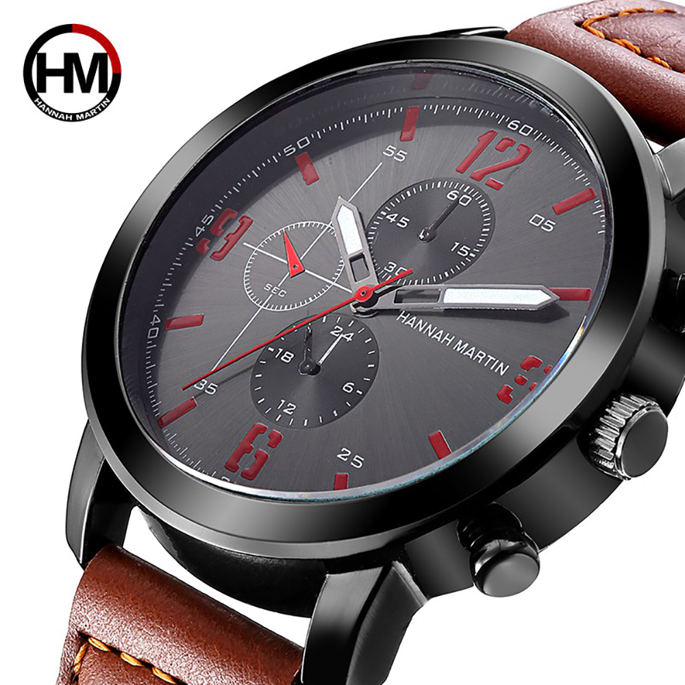 Relogio Masculino 2018 Mens Watches Top Luxury Brand Waterproof Sports Military Watch Men Fashion Leather Quartz Male Wristwatch