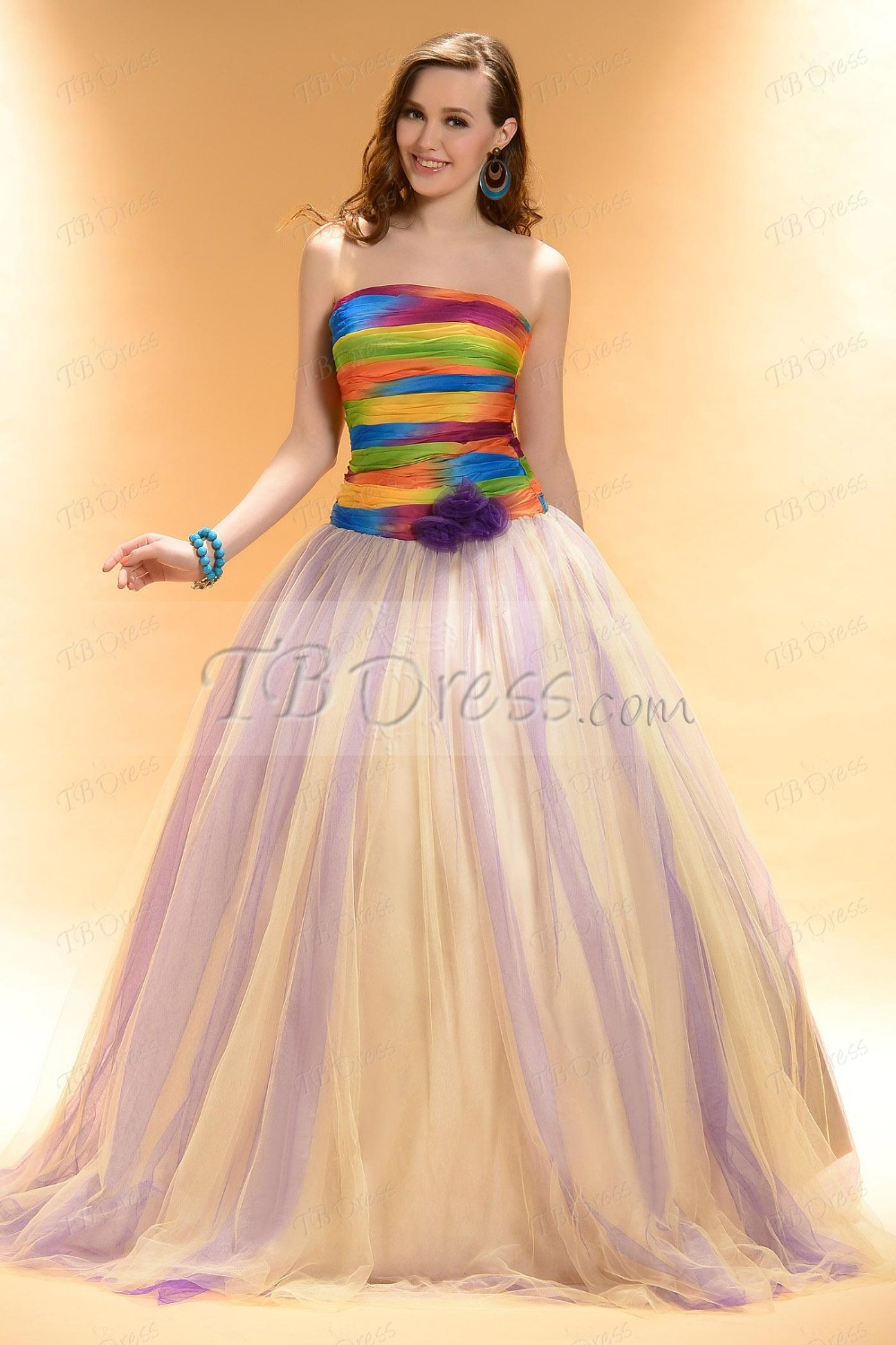 2019 year for lady- Dresses quinceanera rainbow colors