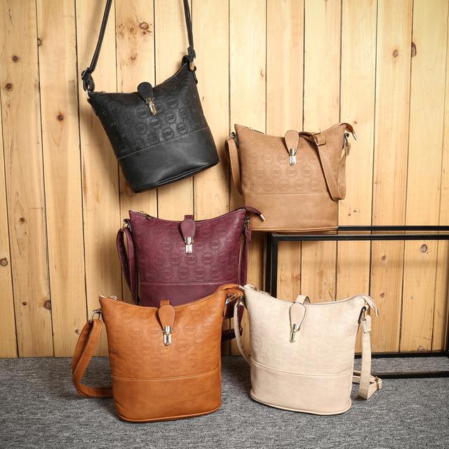 Women Leather Handbags Vintage Shoulder Bags Fashion Messenger Bag