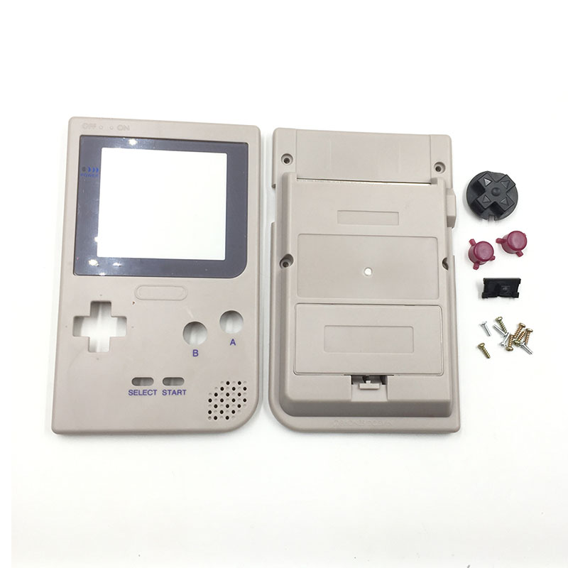 Plastic Grey  Housing For Gameboy Pocket For DMG-01 Edition Housing Case For  Game Boy GBP