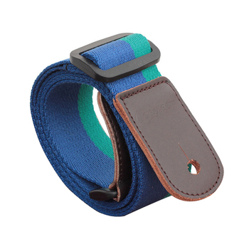 Longteam cotton + leather uukiri shoulder strap with tail nail and Tied rope length 80cm -140cm width 4cm Dark blue green