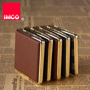 Image 1 - IMCO Original Cigarette Case Cigar Box Genuine Leather Tobacco Holder Pocket Storage Container Smoking Cigarette Accessories