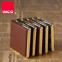 IMCO caja de cigarrillos Original, caja de cigarros de cuero genuino, soporte para tabaco, contenedor de almacenamiento de bolsillo, accesorios para cigarrillos para fumar