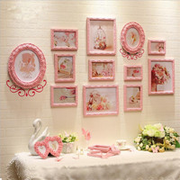 Photo Frames Photos Cuadros Para Fotos Valentine S Day Wholesale White Pink Baroque Elegant Place Card