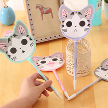 12 pcs/lot fan Ballpoint Pens Cute Cartoon Cat Ball Point Pen Creative Stationery Promotional Pens(China)