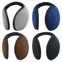 Унисекс однотонные зимние наушники для женщин для мужчин уха Обложка протектор утолщаются плюшевые мягкие теплые