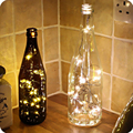 HY DIY 50CM 10 Leds Corks Copper Wire Fairy Lights Indoor String LED Festival Wedding Christmas Party Home Decoration Lamp