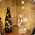 Hy diy 50 cm 10 leds tapones de alambre de cobre luces interiores led string de hadas del festival fiesta de navidad de la boda decoración del hogar lámpara