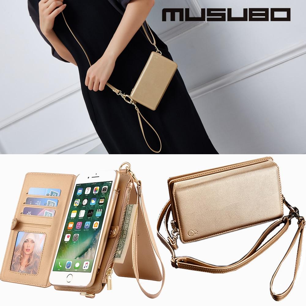 Цена за Musubo Оригинальные Случаи Обложка Для Apple iPhone 7 Plus Роскошный кожаный бумажник case для iPhone 6 Plus 6 s plus 7 плюс кожаный чехол телефон сумка 6 P чехол на айфон 6s Plus чехол на айфон 7 plus cases