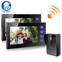 2 4G 7 TFT LCD Monitor Wireless Video Intercom Doorbell Home Security Camera Monitor Night Vision