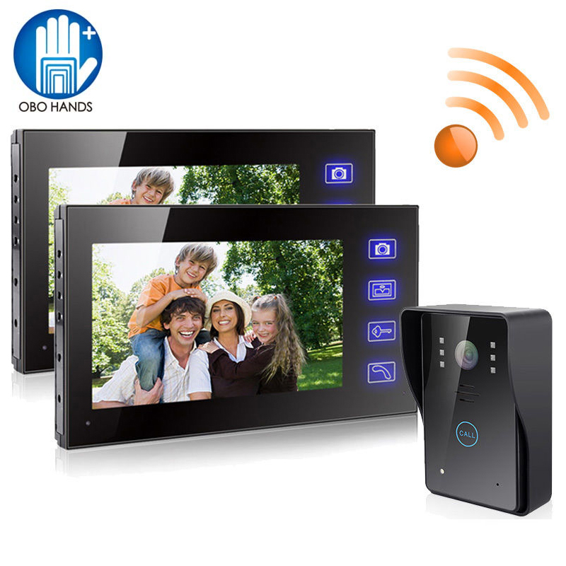 2.4G 7 TFT LCD Monitor Wireless Video Intercom Doorbell Home Security Camera Monitor Night-Vision Handsfree Doorphone 806MJW12 zilnk video intercom hd 720p wifi doorbell camera smart home security night vision wireless doorphone with indoor chime silver