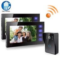 2 4G 7 TFT LCD Monitor Wireless Video Intercom Doorbell Home Security Camera Monitor Night Vision