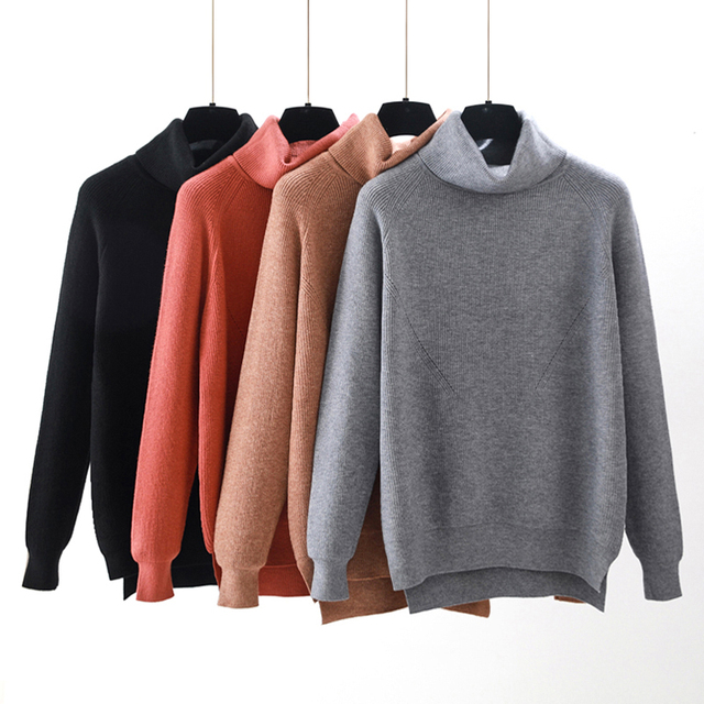 2018 oversize suéter Otoño Invierno mujeres suéter grueso suave Jumper  suelta Casual mujer suéter Suelto a0b72f47b6cd