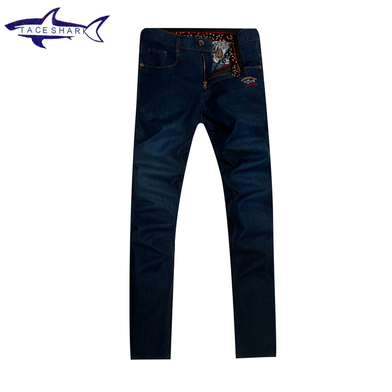 2017 New fashion brand mens jeans homme top quality Tace & Shark jeans men straight casual denim trousers mens overalls 17 shark summer new italy classic blue denim pants men slim fit brand trousers male high quality cotton fashion jeans homme 3377