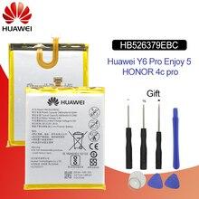 هوا وي بطارية الهاتف الأصلي HB526379EBC لهواوي Y6 برو/استمتع 5/الشرف 4C برو 4000mAh بطاريات بديلة أدوات مجانية