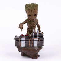 Guardians Of The Galaxy 2 DJ Groot Statue Resin Figure Collectible Model Toy 18cm