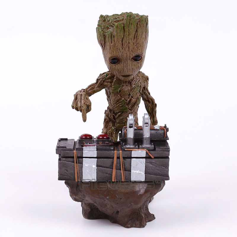 Guardians of the Galaxy 2 DJ Tree Man Statue Resin Figure Collectible Model Toy 18cm