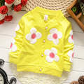 Hot Style!!!!!Girls In Autumn Of 2016 The New Coat Girls Flowers With Long Sleeves  Girls Jacket  Children's Wear Clothes