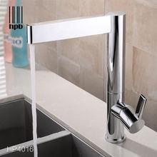 Хромированный латунный кухонный кран для ванной комнаты смеситель