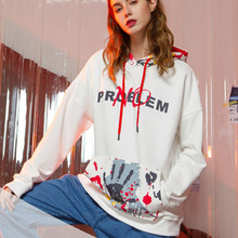 Fashion 3D Printted Front Pocket Oversized Hoodie Women Spring Hip-hop Sweatshirt 2019 New Arrival Streetwear Couple Hoodies