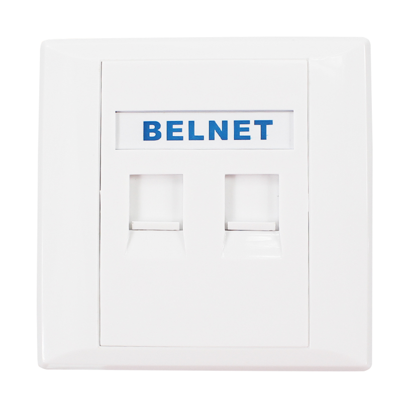 86x86mm  two Port double port RJ45 thick wall plate faceplate Wall mount installation with RJ45 & RJ11 Keystone Socket Outlet 86x86mm single double port rj45 thick wall plate faceplate wall mount installation with rj45 & rj11 keystone socket outlet