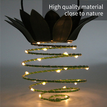 Solar Night Light Iron Pineapple Copper Wire LED Garden Outdoor Hanging Waterproof Wall Lamp Fairy